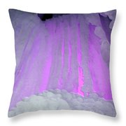 Ice Cliff Throw Pillow