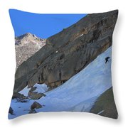 Ice Climbers In A Stark Contrast Throw Pillow