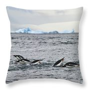 Ice Cold Athletes... Throw Pillow