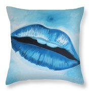 Ice Cold Lips Throw Pillow
