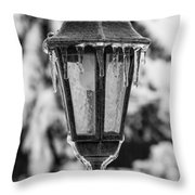 Ice Covered Lantern Throw Pillow