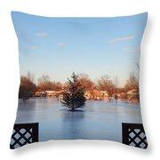 Satin Ice Covered Snow Throw Pillow