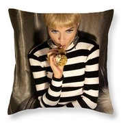 Ice Cream Dream Girl  Throw Pillow