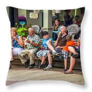 Ice Cream Eaters...an Observation Throw Pillow