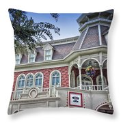 Ice Cream Parlor Main Street Walt Disney World Throw Pillow