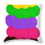 Ice Cream Shop 6 Scoops - Panorama Throw Pillow