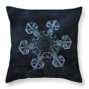 Snowflake Photo - Ice Crown Throw Pillow