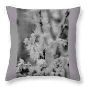 Ice Crystal Throw Pillow