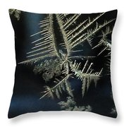 Ice Crystals Throw Pillow