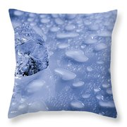 Ice Cube With Copyspace Throw Pillow