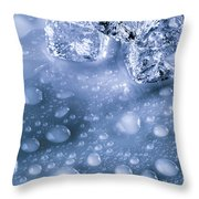 Ice Cubes With Copyspace Throw Pillow