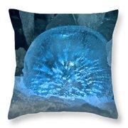 Ice Entrapment Throw Pillow