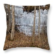 Ice Falls Throw Pillow
