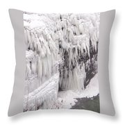 Ice Feathers 2 Throw Pillow