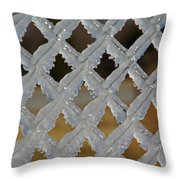 Ice Fence Throw Pillow