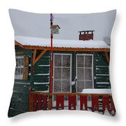 Ice Fishing Derby 10 Throw Pillow