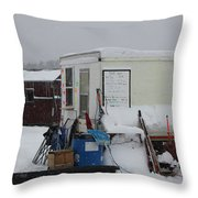 Ice Fishing Derby 6 Throw Pillow