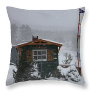 Ice Fishing Derby 7 Throw Pillow