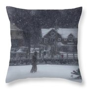Ice Fishing Derby 9 Throw Pillow