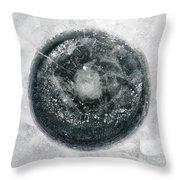 Ice Fishing Hole 12 Throw Pillow