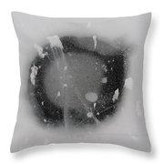 Ice Fishing Hole 13 Throw Pillow