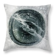 Ice Fishing Hole 8 Throw Pillow
