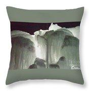 Ice Flow 10 Throw Pillow