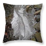 Ice Flow 2 Throw Pillow