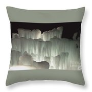 Ice Flow 20 Throw Pillow