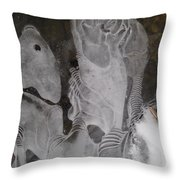 Ice Flow 5 Throw Pillow