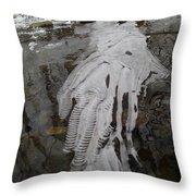 Ice Flow 7 Throw Pillow