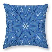 Ice Flower Fractal Throw Pillow