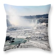 Ice Flows At Niagara Throw Pillow