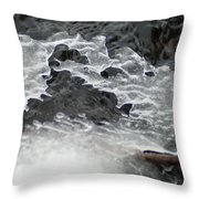 Ice Formations Viii Throw Pillow