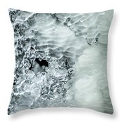 Ice Formations X Throw Pillow