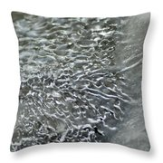 Ice Formations Xii Throw Pillow