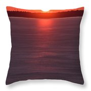 Ice Glow Sunset Seaside New Jersey Throw Pillow