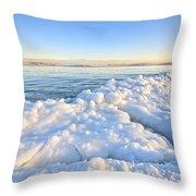 Ice Goosebumps Throw Pillow