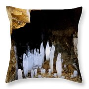 Ice In A Cave Throw Pillow