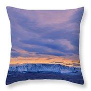 Ice Island Throw Pillow