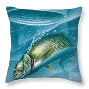 Ice Laker Throw Pillow
