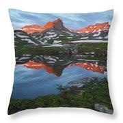 Ice Lakes Alpenglow Throw Pillow