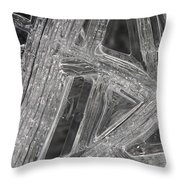 Ice Macro 1 Throw Pillow