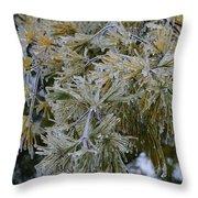 Ice Needles Throw Pillow