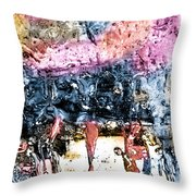 Ice Number Four Throw Pillow