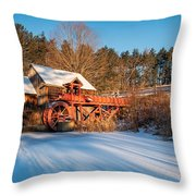 Ice On The Pond Throw Pillow