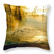 Ice On The River Throw Pillow