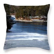 Ice On The St. Lawrence Throw Pillow