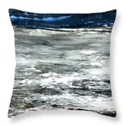 Ice On The Wisconsin River Throw Pillow