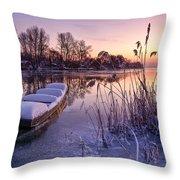 Ice Pier II Throw Pillow